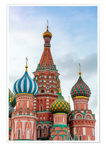 Premium poster St. Basil's Cathedral at Red Square in Moscow
