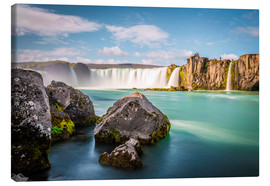 Canvas print  Godafoss, the waterfall of the gods - Click Alps