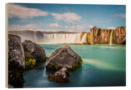Wood print  Godafoss, the waterfall of the gods - Click Alps