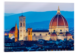 Acrylic print  Cathedral and Brunelleschi cathedral in Florence - Click Alps