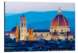 Aluminium print  Cathedral and Brunelleschi cathedral in Florence - Click Alps
