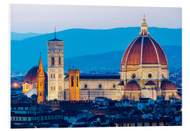 Foam board print  Cathedral and Brunelleschi cathedral in Florence - Click Alps