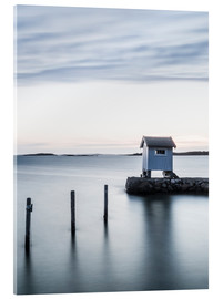 Acrylic print  Hut by the lake - Johner