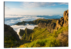 Aluminium print  Mountains above the clouds - Johner