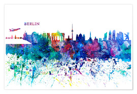 Premium poster Skyline BERLIN Colorful Silhouette PL
