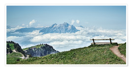 Poster Rigi Descent - The sky so close