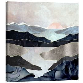 Canvas  Blue Mountain Lake  - SpaceFrog Designs
