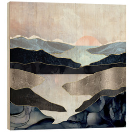 Wood print  Blue Mountain Lake - SpaceFrog Designs