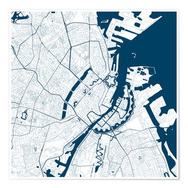 Premium poster City map of Copenhagen