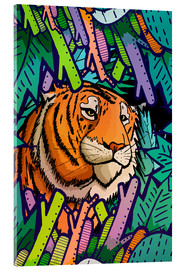 Acrylic print  Tiger in the undergrowth - Stephen Wade