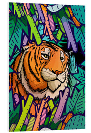 Foam board print  Tiger in the undergrowth - Stephen Wade