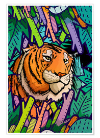 Poster  Tiger in the undergrowth - Stephen Wade