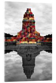 Acrylic print  Monument to the battle of the nations Colour Pop