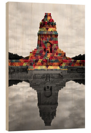 Wood print  Monument to the battle of the nations Colour Pop