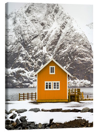 Canvas print  Yellow hut on the edge of the water - Keith Levit