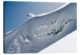 Canvas print  Freeriding snowboarder on a snowy slope - Dean Blotto Gray