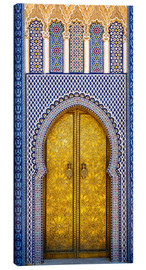 Canvas print  Detail of the King's Palace ornate doors, Morocco - Brenda Tharp