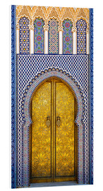 Foam board print  Decorated door of the royal palace - Brenda Tharp