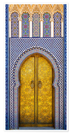 Premium poster Decorated door of the royal palace