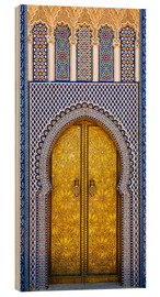 Wood print  Decorated door of the royal palace - Brenda Tharp