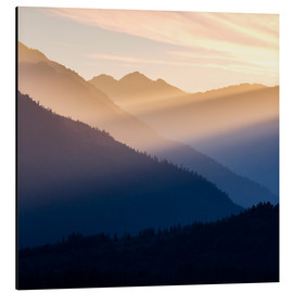 Aluminium print  Evening light in the mountains - Don Paulson