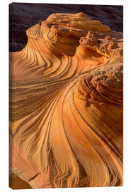 Canvas  The Second Wave in the Vermillion Cliffs Wilderness, Arizona - Chuck Haney