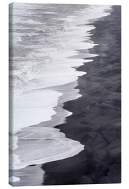 Canvas print  North Atlantic coast during the winter, Solheimasandur - Martin Zwick