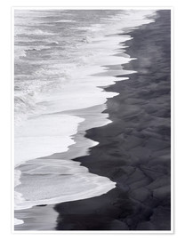 Premium poster  North Atlantic coast during the winter, Solheimasandur - Martin Zwick