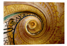 Acrylic print  Spiral staircase in Melk Abbey - Tom Norring