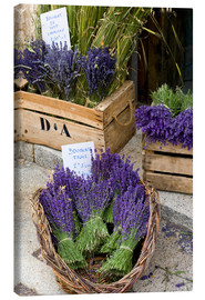 Canvas print  Baskets with lavender bouquets - Brenda Tharp