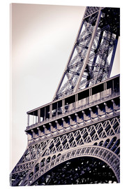 Acrylic print  Detail of the Eiffel Tower - Russ Bishop
