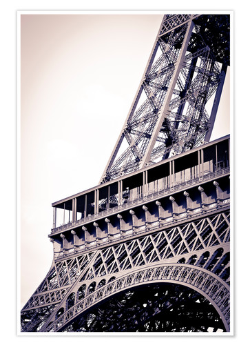 Premium poster Detail of the Eiffel Tower