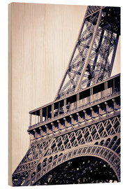 Wood  Detail of the Eiffel Tower, Paris, France - Russ Bishop