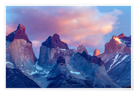Premium poster Torres del Paine at sunrise