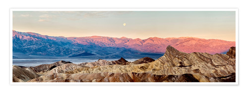 Premium poster Moon over Death Valley National Park