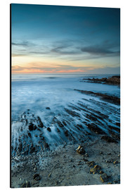 Aluminium print  Sunset with rock formations and ocean - Judith Zimmerman