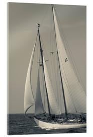 Acrylic print  Sailboat in the wind at Cape Ann - Walter Bibikow