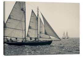 Canvas  The journey of sailboats - Walter Bibikow