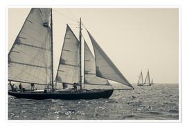 Premium poster The journey of sailboats