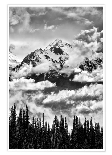 Premium poster Carrie glacier through the clouds
