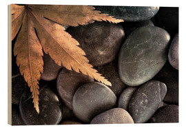 Wood  Maple leaf on rocks - Don Paulson