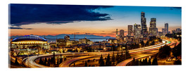 Acrylic print  Seattle in the evening light - Gary Luhm