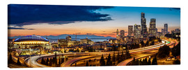 Canvas print  Seattle in the evening light - Gary Luhm