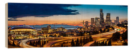 Wood print  Seattle in the evening light - Gary Luhm