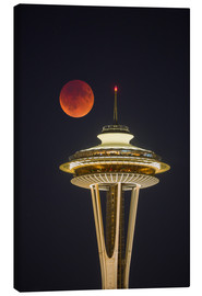 Canvas print  Bloodmoon over Seattle - Gary Luhm