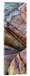 Acrylic print  Abstract lines in the sandstone - Judith Zimmerman