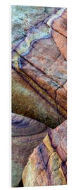 Forex  Colorful abstract lines in sandstone rocks - Judith Zimmerman