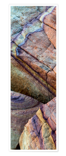 Premium poster Abstract lines in the sandstone