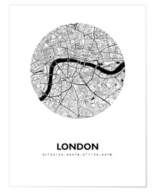 Premium poster City map of London