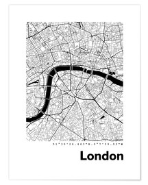 Premium poster  City map of London - 44spaces